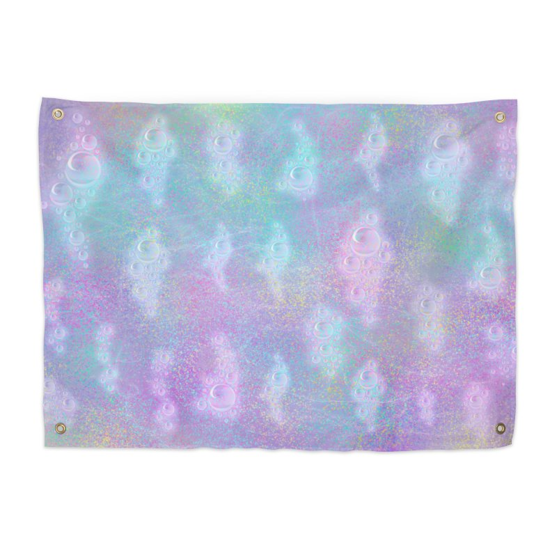 Rainbow Bubbles Home Tapestry by nicolekieferdesign's Artist Shop
