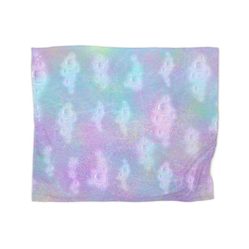 Rainbow Bubbles Home Blanket by nicolekieferdesign's Artist Shop