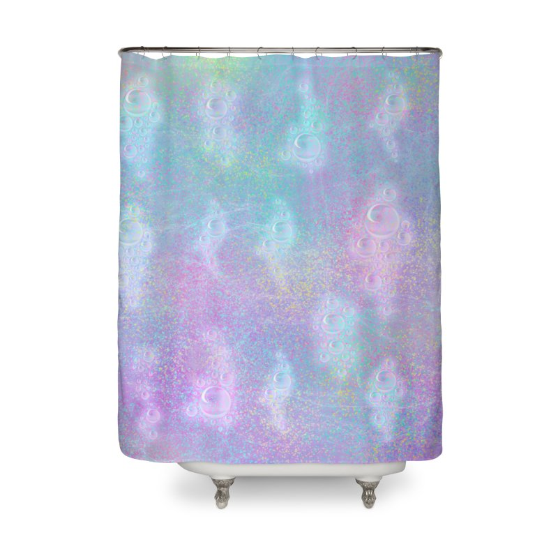 Rainbow Bubbles Home Shower Curtain by nicolekieferdesign's Artist Shop