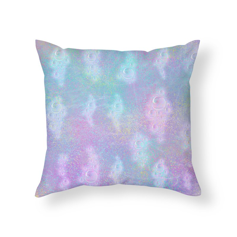Rainbow Bubbles Home Throw Pillow by nicolekieferdesign's Artist Shop