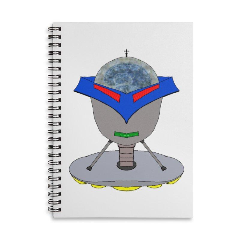 Floating Robot Head Accessories Notebook by nicolekieferdesign's Artist Shop