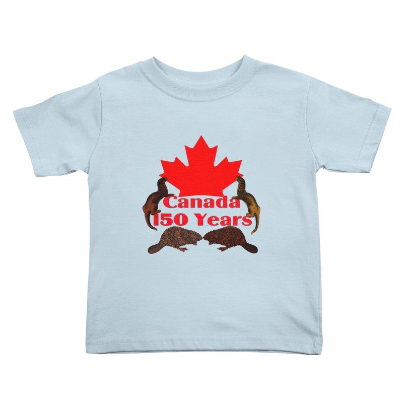 Canada 150th Kids Toddler T-Shirt by nicolekieferdesign's Artist Shop