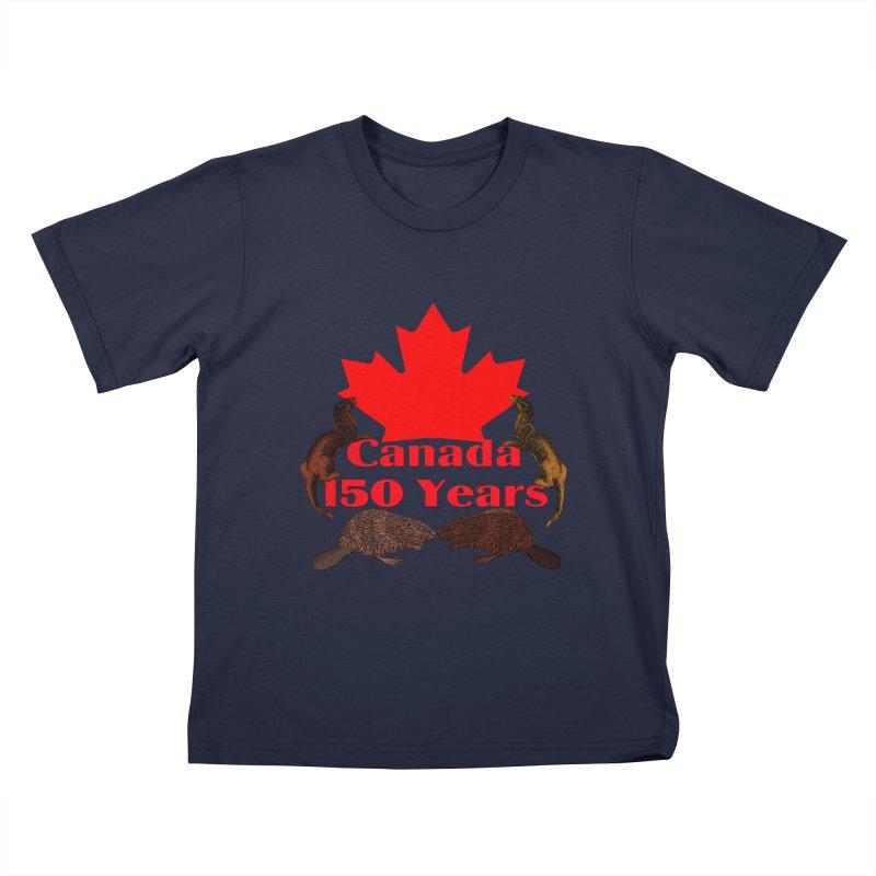 Canada 150th Kids T-shirt by nicolekieferdesign's Artist Shop