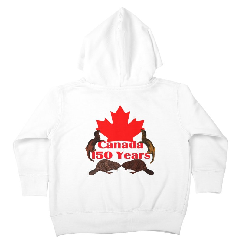 Canada 150th Kids Toddler Zip-Up Hoody by nicolekieferdesign's Artist Shop