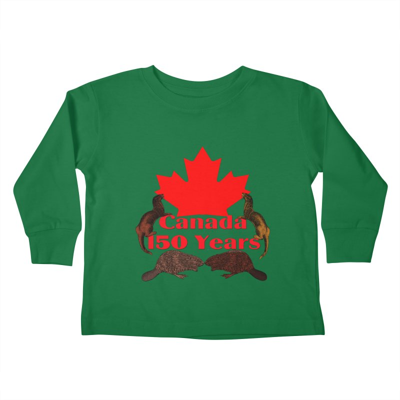 Canada 150th Kids Toddler Longsleeve T-Shirt by nicolekieferdesign's Artist Shop
