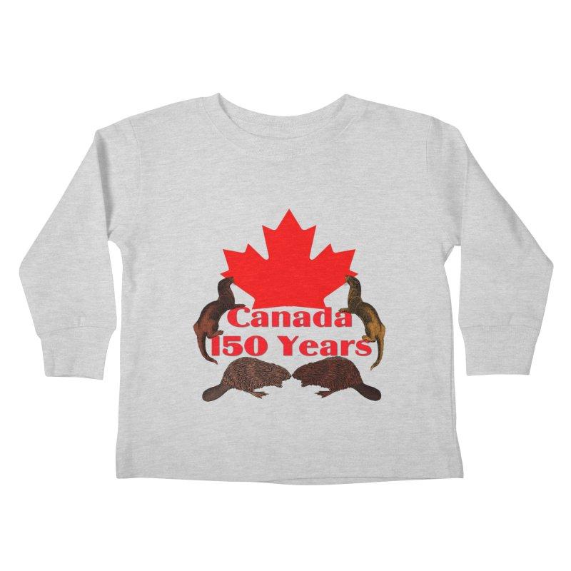 Canada 150th Kids Toddler Longsleeve T-Shirt by nicolekieferdesign's Artist Shop