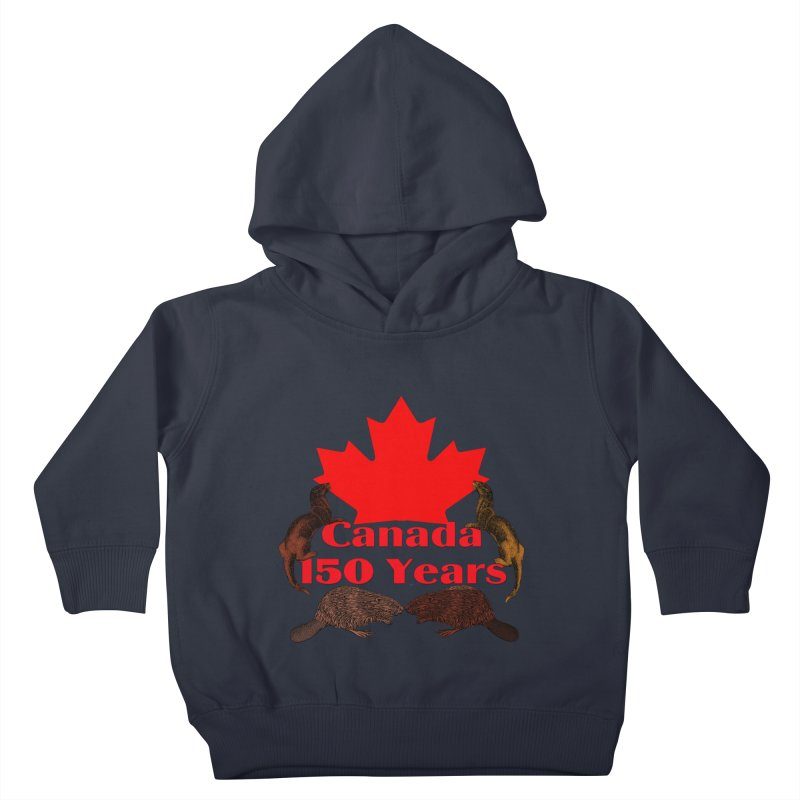 Canada 150th Kids Toddler Pullover Hoody by nicolekieferdesign's Artist Shop