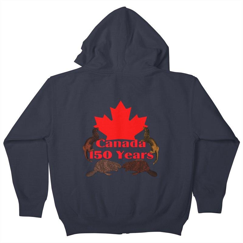 Canada 150th Kids Zip-Up Hoody by nicolekieferdesign's Artist Shop