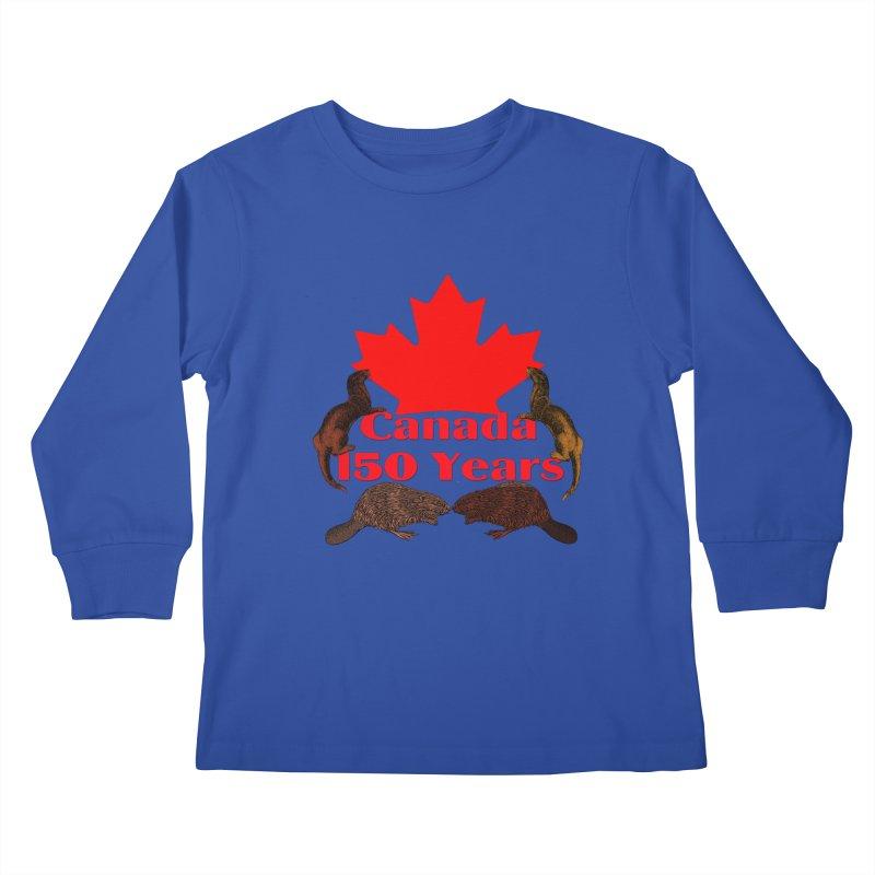 Canada 150th Kids Longsleeve T-Shirt by nicolekieferdesign's Artist Shop