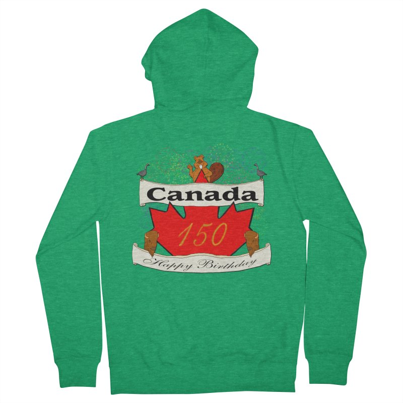 Happy Birthday Canada Women's Zip-Up Hoody by nicolekieferdesign's Artist Shop