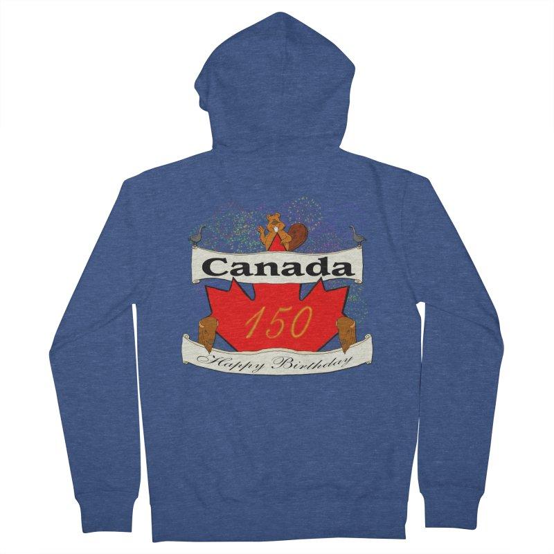 Happy Birthday Canada Men's Zip-Up Hoody by nicolekieferdesign's Artist Shop