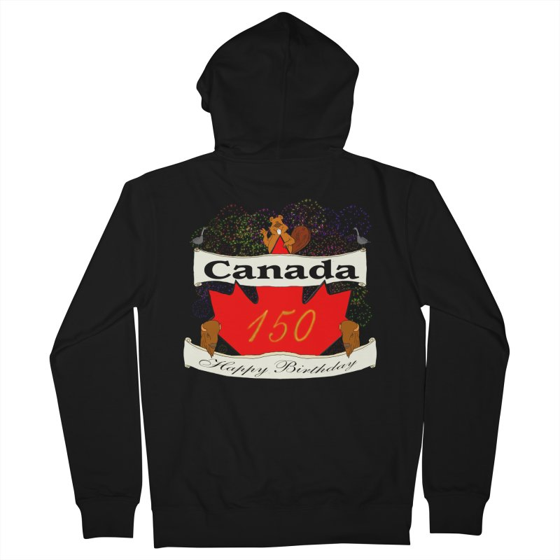 Happy Birthday Canada Men's Zip-Up Hoody by nicolekieferdesign's Artist Shop
