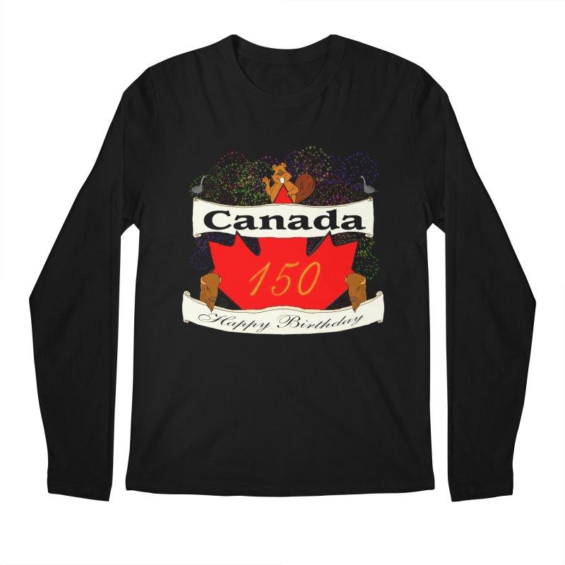 Happy Birthday Canada Men's Longsleeve T-Shirt by nicolekieferdesign's Artist Shop