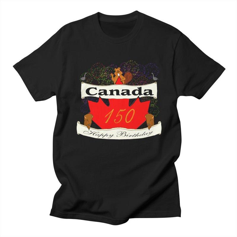 Happy Birthday Canada Men's T-Shirt by nicolekieferdesign's Artist Shop
