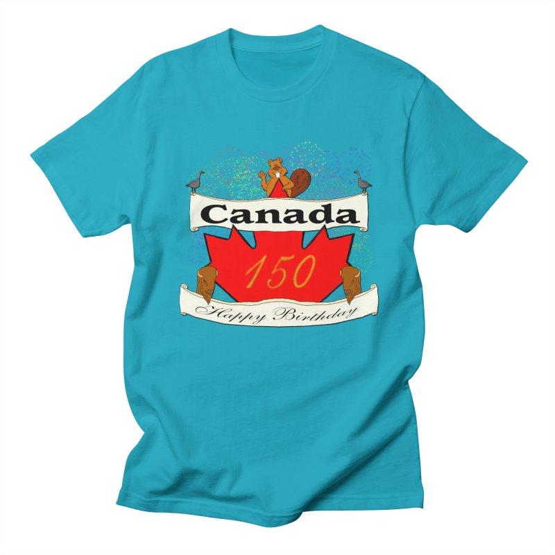 Happy Birthday Canada Women's Unisex T-Shirt by nicolekieferdesign's Artist Shop
