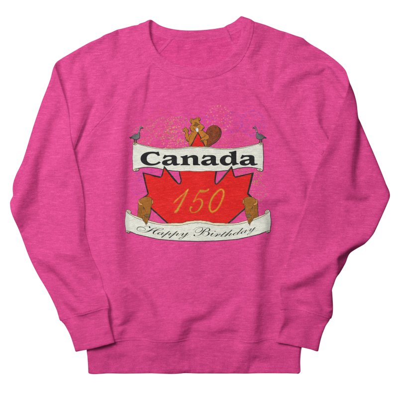 Happy Birthday Canada Men's Sweatshirt by nicolekieferdesign's Artist Shop