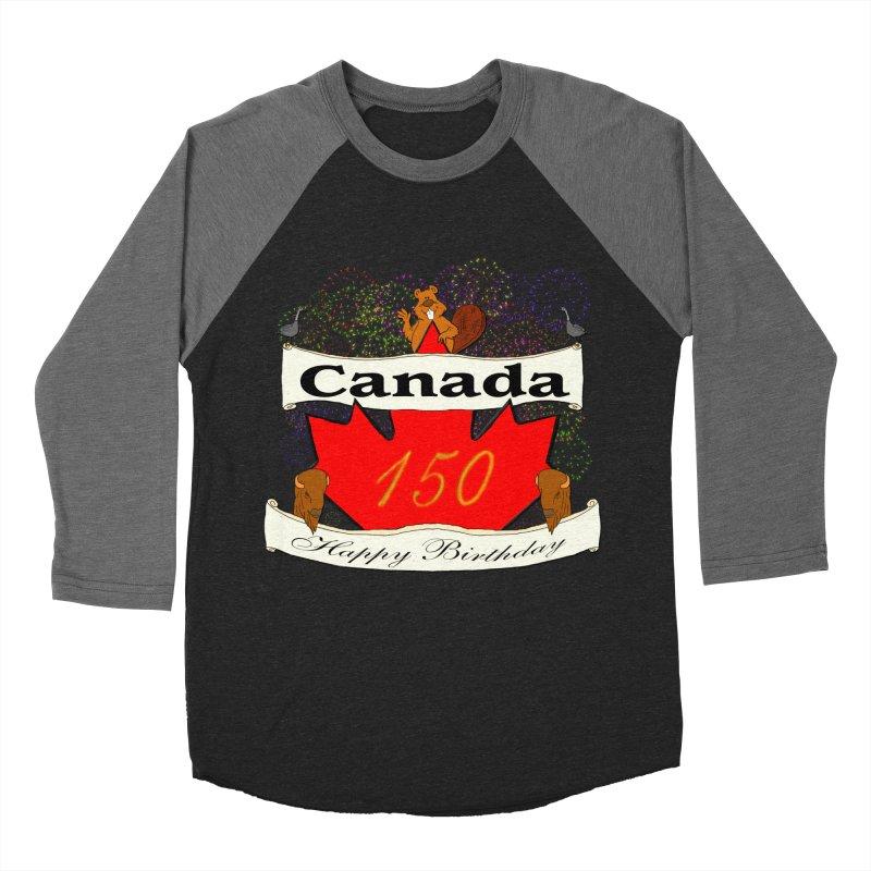 Happy Birthday Canada Women's Baseball Triblend T-Shirt by nicolekieferdesign's Artist Shop
