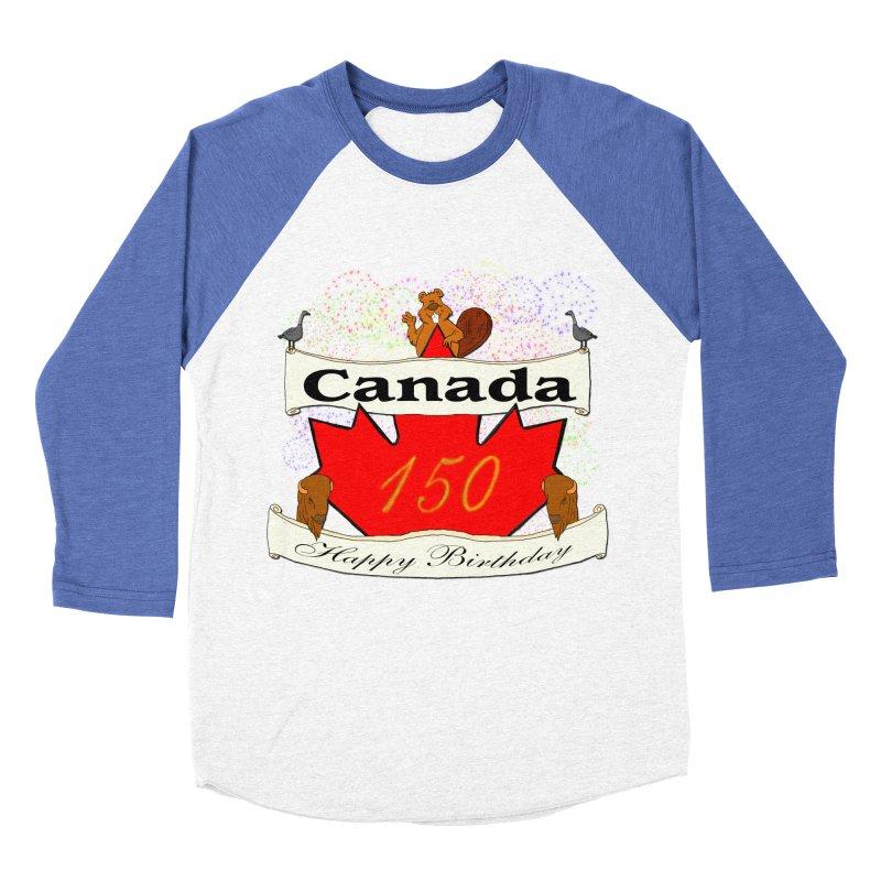 Happy Birthday Canada Men's Baseball Triblend T-Shirt by nicolekieferdesign's Artist Shop