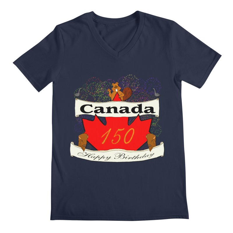 Happy Birthday Canada Men's V-Neck by nicolekieferdesign's Artist Shop