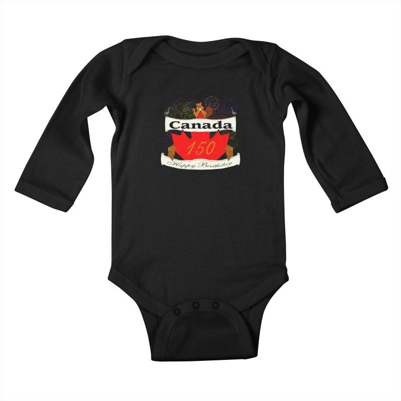 Happy Birthday Canada Kids Baby Longsleeve Bodysuit by nicolekieferdesign's Artist Shop