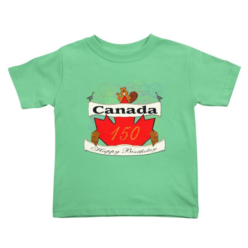 Happy Birthday Canada Kids Toddler T-Shirt by nicolekieferdesign's Artist Shop