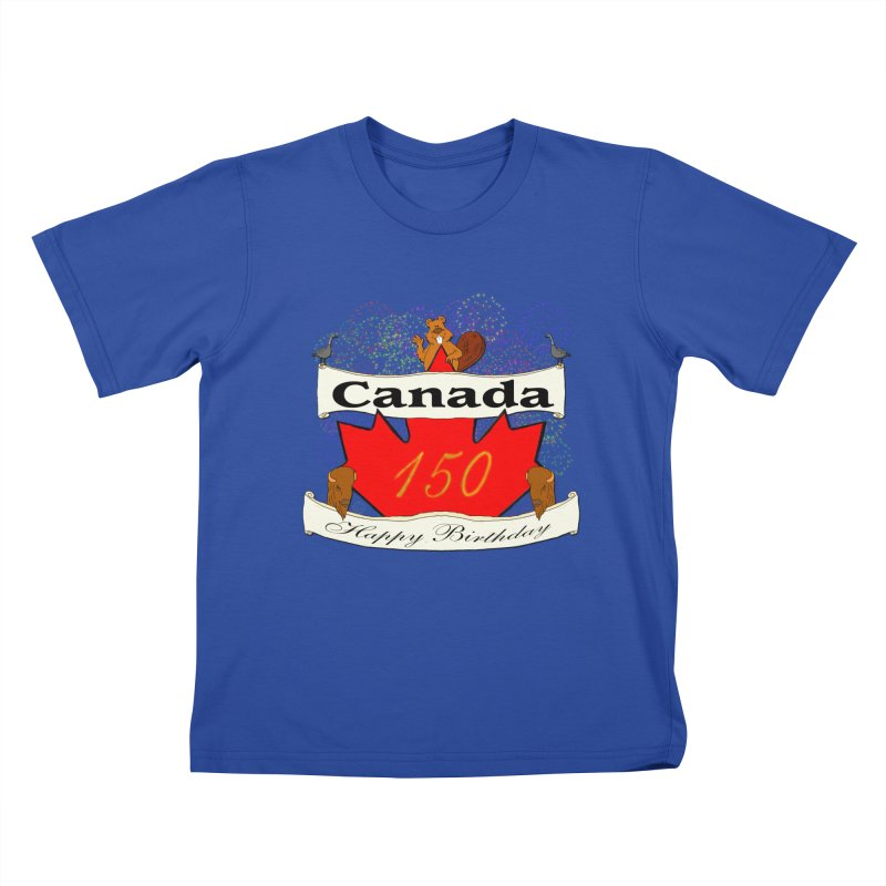 Happy Birthday Canada Kids T-shirt by nicolekieferdesign's Artist Shop
