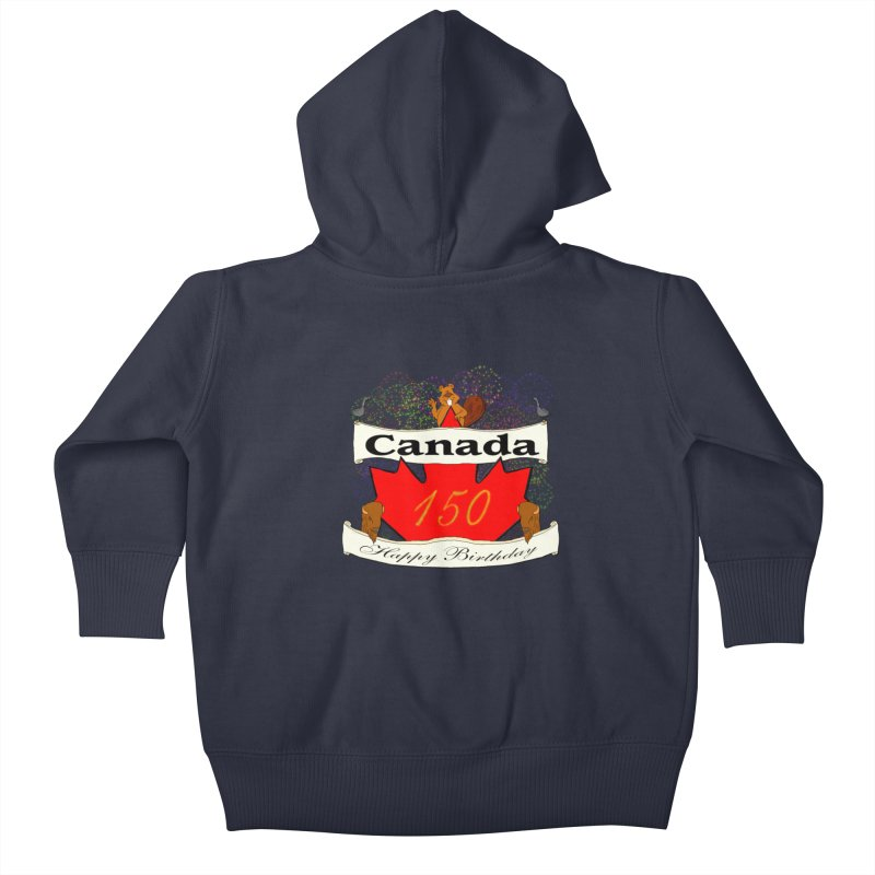 Happy Birthday Canada Kids Baby Zip-Up Hoody by nicolekieferdesign's Artist Shop