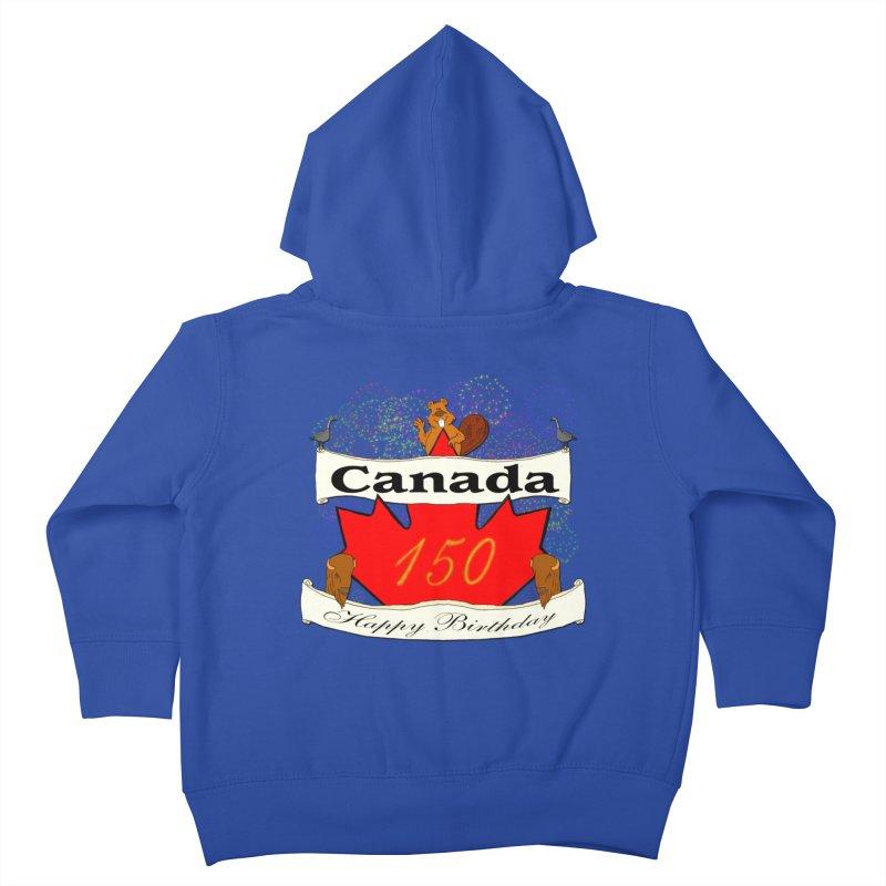 Happy Birthday Canada Kids Toddler Zip-Up Hoody by nicolekieferdesign's Artist Shop