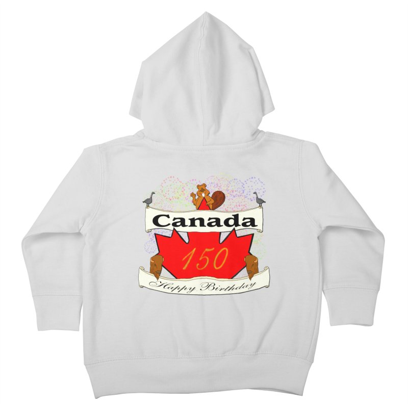 Happy Birthday Canada Kids Toddler Zip-Up Hoody by nicolekieferdesign's Artist Shop