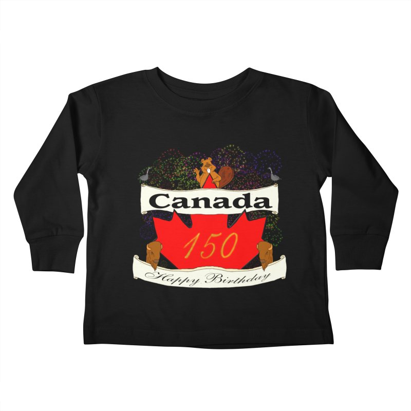 Happy Birthday Canada Kids Toddler Longsleeve T-Shirt by nicolekieferdesign's Artist Shop