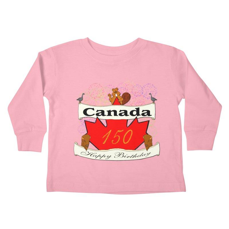Happy Birthday Canada Kids Toddler Longsleeve T-Shirt by nicolekieferdesign's Artist Shop