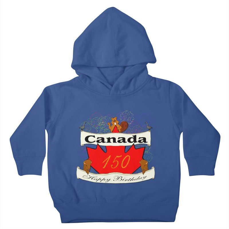 Happy Birthday Canada Kids Toddler Pullover Hoody by nicolekieferdesign's Artist Shop