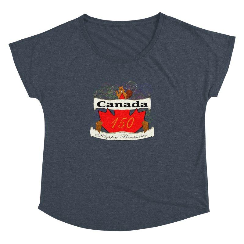 Happy Birthday Canada Women's Dolman by nicolekieferdesign's Artist Shop
