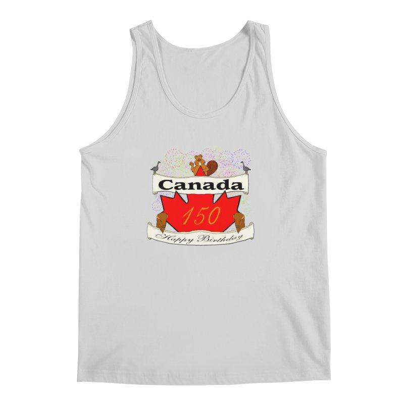 Happy Birthday Canada Men's Tank by nicolekieferdesign's Artist Shop