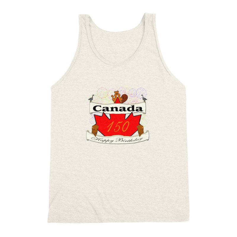 Happy Birthday Canada Men's Triblend Tank by nicolekieferdesign's Artist Shop