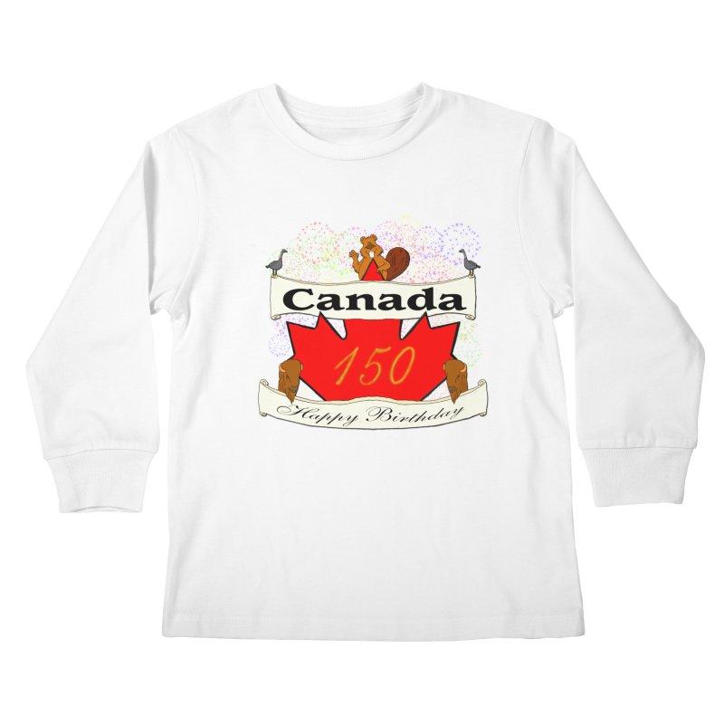 Happy Birthday Canada Kids Longsleeve T-Shirt by nicolekieferdesign's Artist Shop