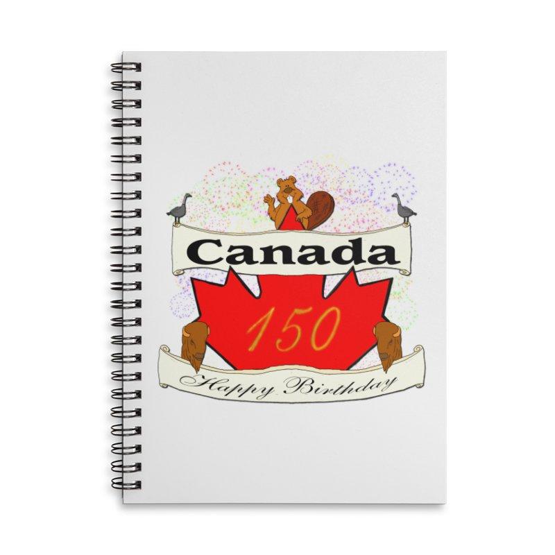 Happy Birthday Canada Accessories Notebook by nicolekieferdesign's Artist Shop