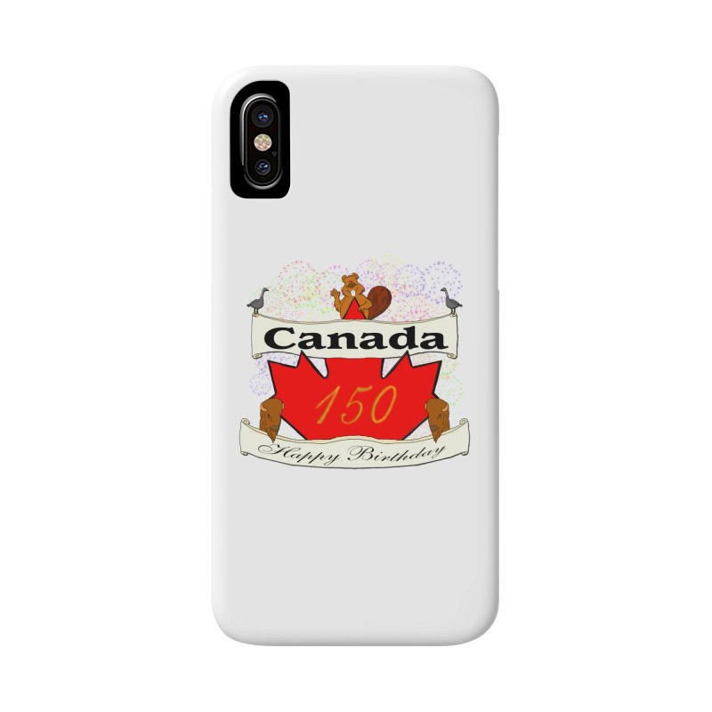 Happy Birthday Canada Accessories Phone Case by nicolekieferdesign's Artist Shop