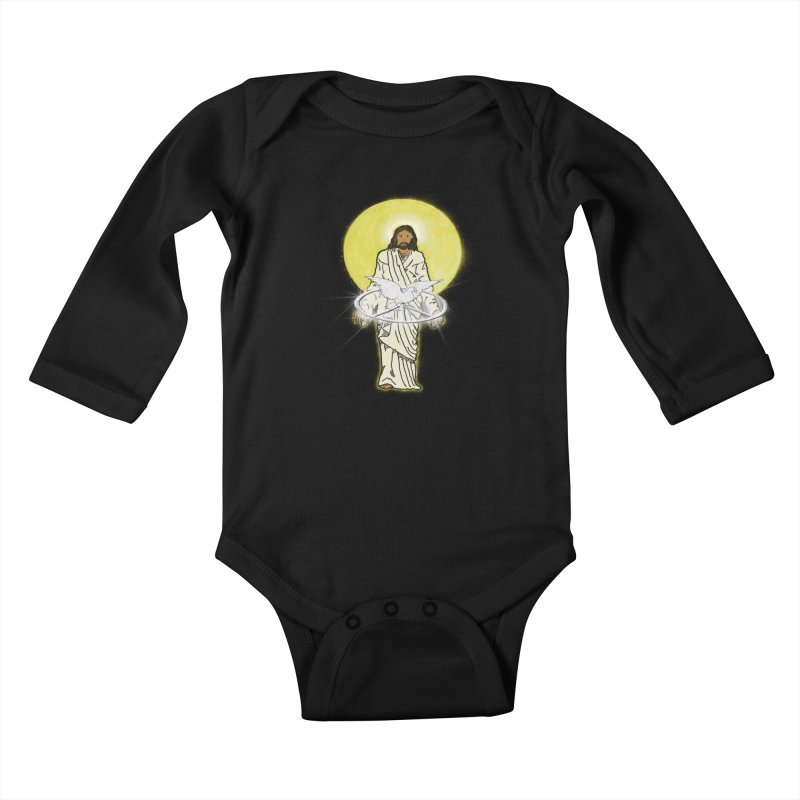 Jesus brings peace Kids Baby Longsleeve Bodysuit by nicolekieferdesign's Artist Shop