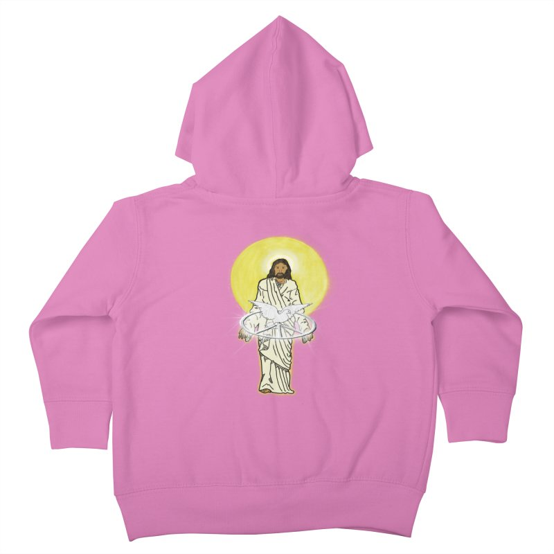 Jesus brings peace Kids Toddler Zip-Up Hoody by nicolekieferdesign's Artist Shop