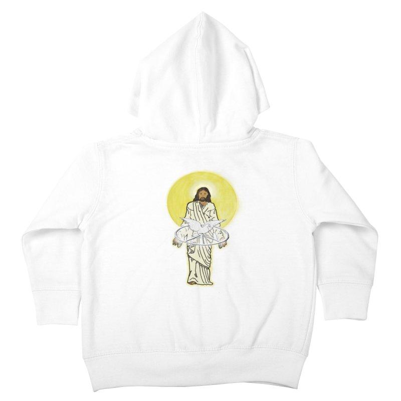 Jesus brings peace Kids Toddler Zip-Up Hoody by nicolekieferdesign's Artist Shop