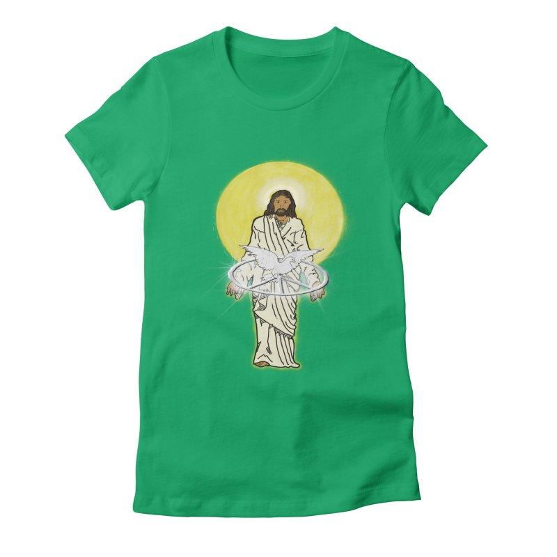 Jesus brings peace Women's Fitted T-Shirt by nicolekieferdesign's Artist Shop