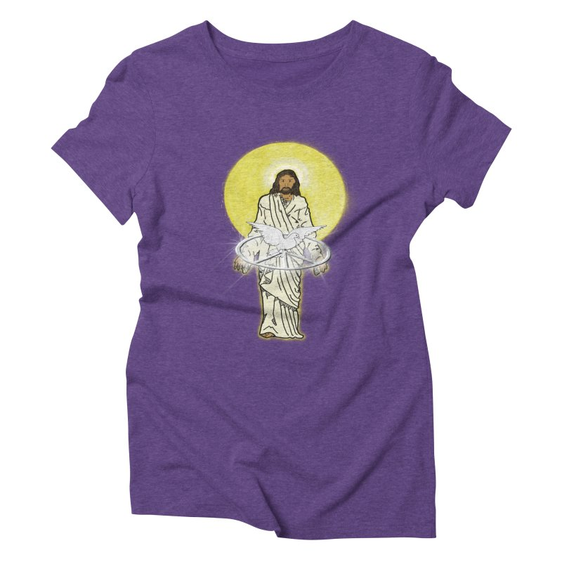 Jesus brings peace Women's Triblend T-shirt by nicolekieferdesign's Artist Shop