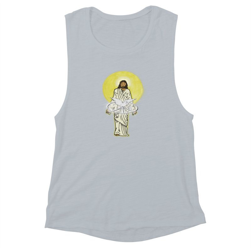Jesus brings peace Women's Muscle Tank by nicolekieferdesign's Artist Shop