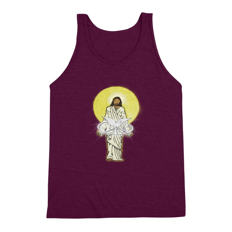 Jesus brings peace Men's Triblend Tank by nicolekieferdesign's Artist Shop
