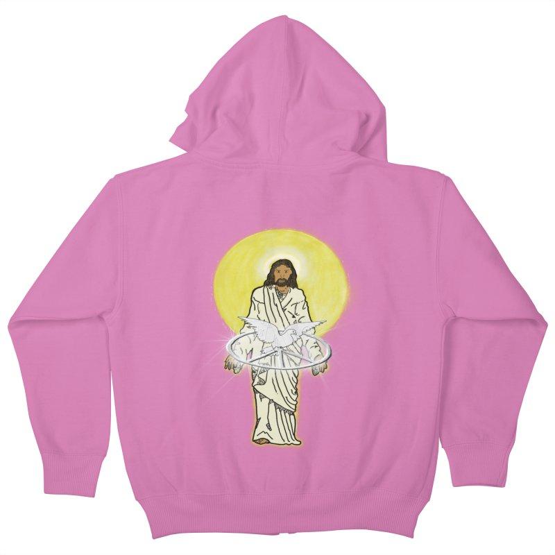 Jesus brings peace Kids Zip-Up Hoody by nicolekieferdesign's Artist Shop