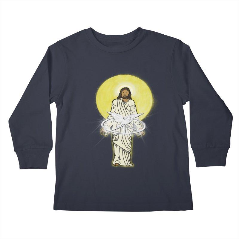 Jesus brings peace Kids Longsleeve T-Shirt by nicolekieferdesign's Artist Shop