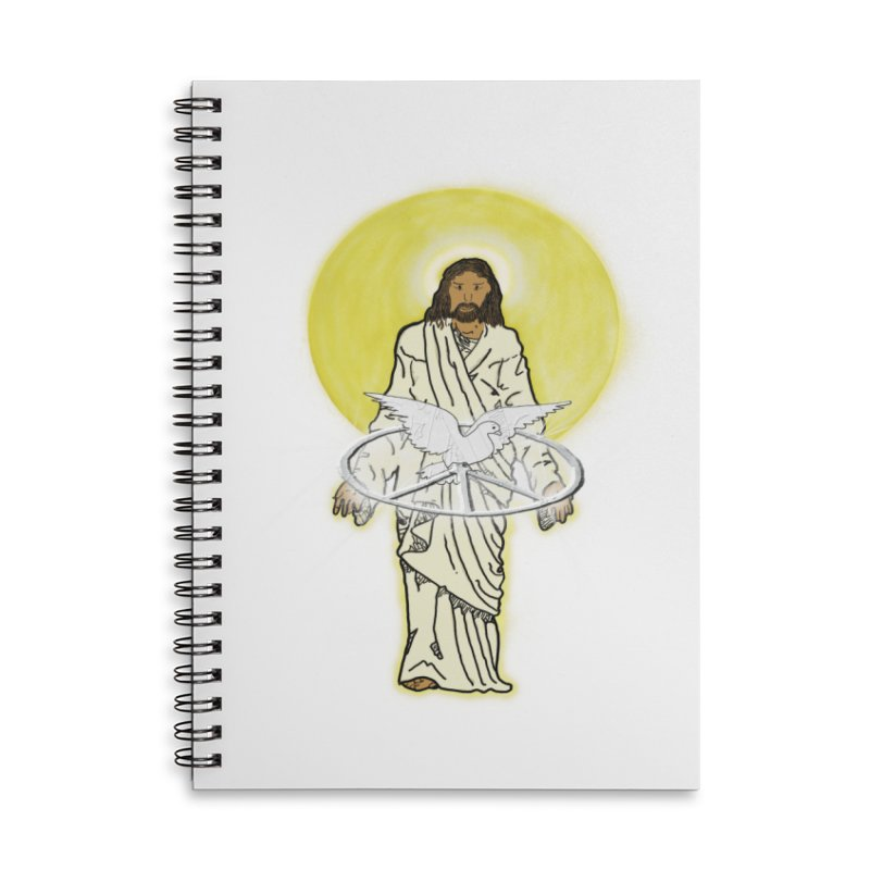 Jesus brings peace Accessories Notebook by nicolekieferdesign's Artist Shop