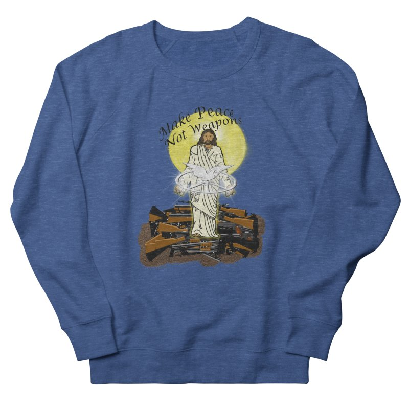 Jesus against Weapons Men's Sweatshirt by nicolekieferdesign's Artist Shop