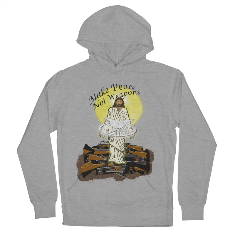 Jesus against Weapons Women's Pullover Hoody by nicolekieferdesign's Artist Shop